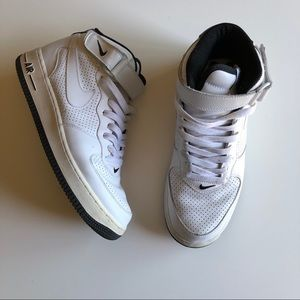 Nike Shoes - Nike Perforated Air Force 1 Mid Top
